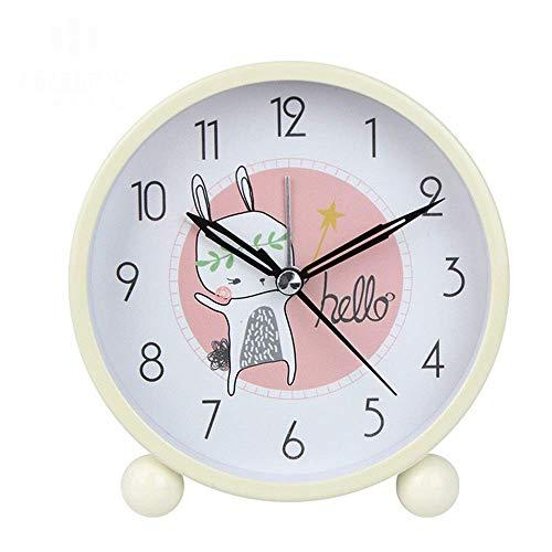WGFGXQ Reloj de cabecera, Despertador Ajustable Reloj Despertador de Oficina de Dormitorio Reloj silencioso de batería de cabecera de Dormitorio con luz Nocturna Cerdo de Dibujos Animados