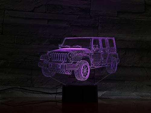 Die batteriebetriebene Jeep-Farbwechselfunktion mit Glühbirne bietet den besten dekorativen Effekt für atmosphärisches Nachtlicht in Innenräumen
