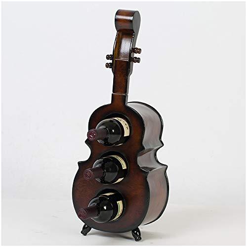 Wzz Cello Weinregal Dekoration Weinregal 3 Flasche Freistehendes Weinhalter-Flaschengestell Weinregal Auf Dem Boden Oder Auf Der Arbeitsplatte