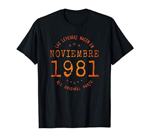 Las Leyendas nacen en Noviembre de 1981 - Regalo de 40 años Camiseta