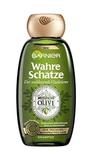 Garnier True Treasures Shampoo, Mythical Olive, Nourishes and Regenerates very dry, stressed hair, paraben-free, 250 ml
