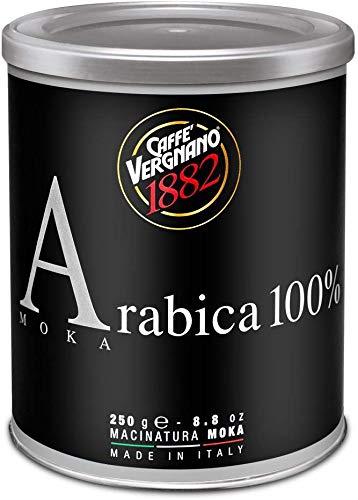 12 Lattine Vergnano Macinatura Moka 100% Arabica. Moka Ground 100% Arabica