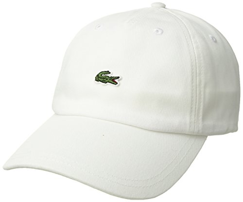 Lacoste Men's Embroidered Crocodile Cotton Cap, White, One Size