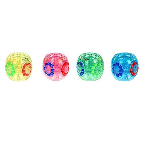 Zappeln Spielzeug Set, 1 pcs Magic Bean Burger Rubiks Würfel Fingerspitzenfinger rotierender Kreisel Dekompression Dekompression und Gehirnentwicklung Rubik's Würfel zufällige Farbe