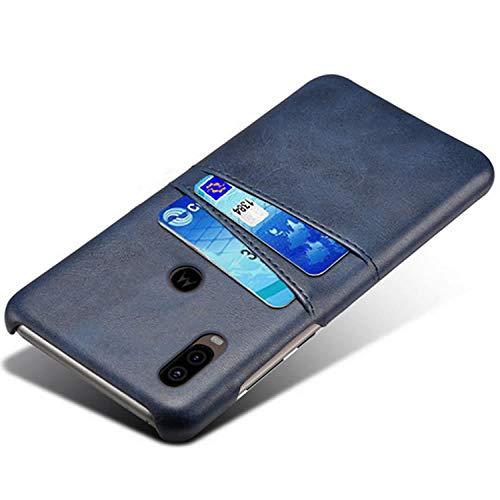 HualuBro Custodia per Motorola One Vision, Ultra Sottile e Leggero PU Pelle Slim Case [Slot Carte]...