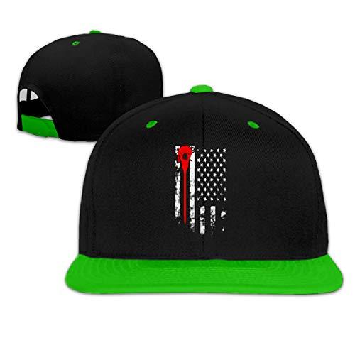 Trucker Hat Lacrosse American Flag Peaked Cap Regalo Clásico Transpirable Único Hip-Hop Gorras Gorras De Béisbol Duraderas Gorra De Golf Vintage Protección Solar Gorra De Camioner