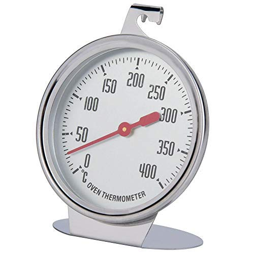 Termómetro de horno con indicador de temperatura de lectura instantánea, sonda de acero inoxidable con dial de pie de gran calibre