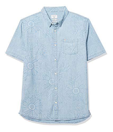 Quiksilver Herren Wildflower Chambrey Woven Hemd, Ballad Blau Wildblume, X-Groß