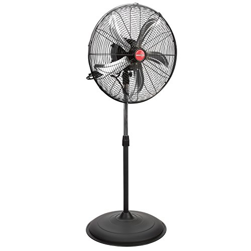 OEM TOOLS 20 Inch Oscillating Pedestal, New Model Commercial Fan, 4500 CFM, Black