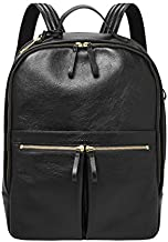 Fossil Women's Tess Leather Laptop Backpack Handbag, Black