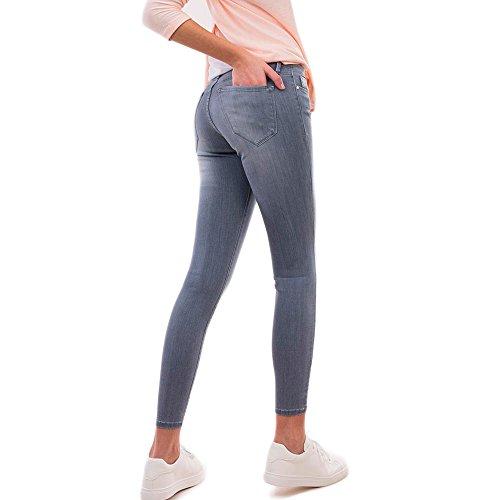 Tiffosi Nicky Skinny Jeans Pantalone Donna con Applicazioni in Metallo 10022325 Grigio (W27 / L30)