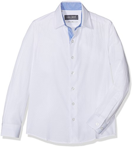 G.O.L. Jungen Kentkragen, Slimfit Hemden, Weiß (White 6), 146