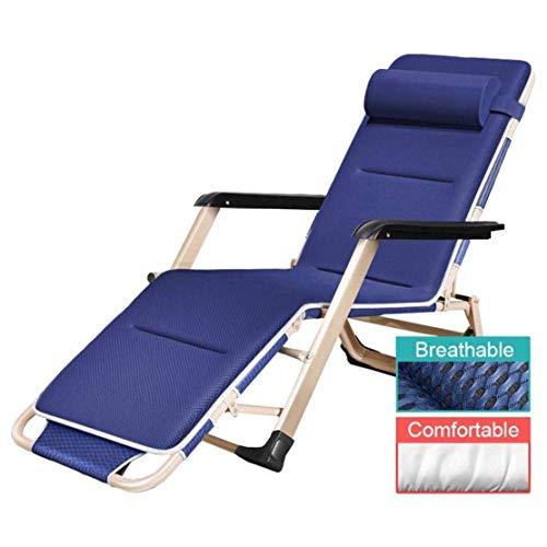 Tuinstoel Gewatteerde Zero Gravity Relaxer-stoel voor achterover leunen in de zon Buiten Patio Lounger Multi-positie Soepele bediening Eenvoudig te gebruiken stof