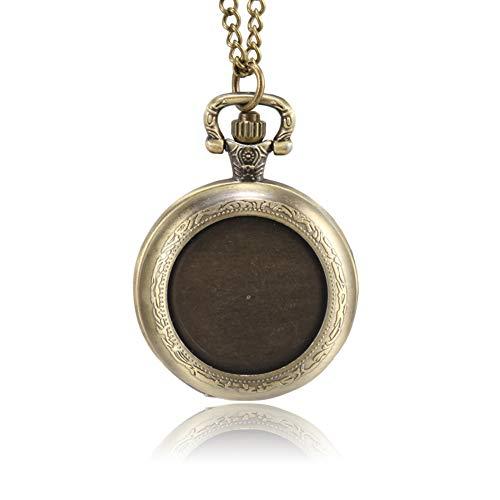 Fanville, orologio da taschino in stile retrò, con cassa rotonda e catena meccanica, classico orologio da tasca con catena, per uomo e donna