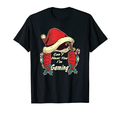 Jugador Navidad, diciendo, video de juegos divertidos, Navidad Camiseta