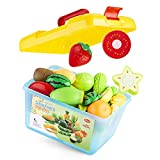 WOTEG - Juguetes de madera para cortar frutas y verduras