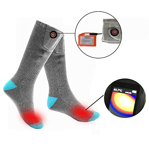 Elektrische verwarmingssokken, oplaadbaar, 13 uur continu gebruik, 4400 mAh, temperatuur in 3 stappen, elektrische sokken, koude winter, voetenwarmer 110V