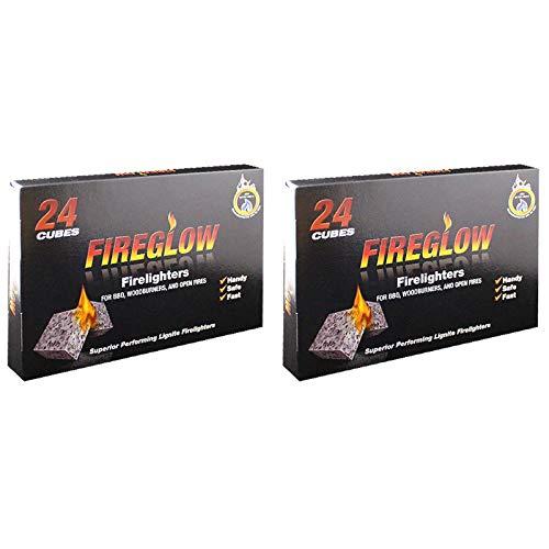 Tiger Tim Fireglow - Encendedores de fuego de 24 cubos,