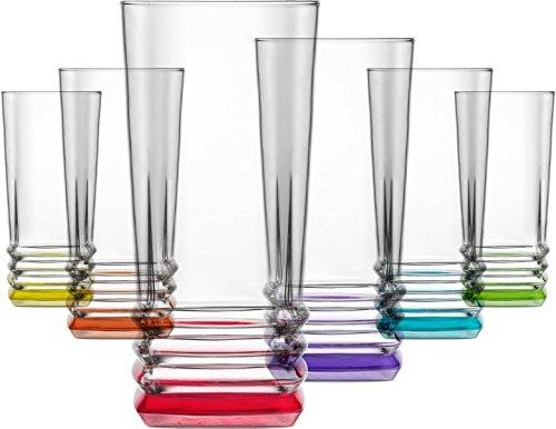 LAV 6 teiliges Design Wassergläser Coral Elegan Saftgläser Trinkgläser Getränkegläser 335 ml