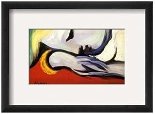 Buyartforless Framed at Rest Framed by Pablo Picasso 15x11 Art Print Poster Resting Woman