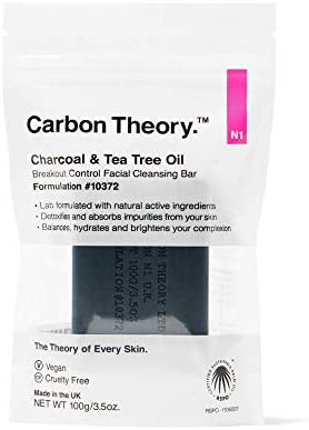 Carbon Theory Charcoal Tea Tree Oil Facial Cleansing Bar in Resealable Travel Pack 100g product image