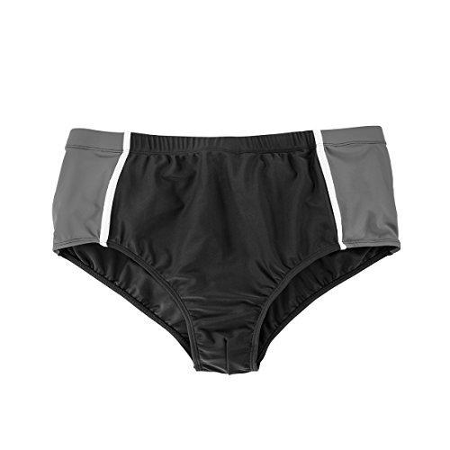 Abraxas Traje Baño Grande Hombre Negro-Gris Slip-Form