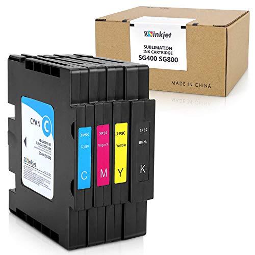 Osinkjet Sublimation Ink Cartridge Compatible for Sawgrass Virtuoso SG400 SG800 Printer (1 Black, 1 Cyan, 1 Magenta, 1 Yellow, 4-Pack)