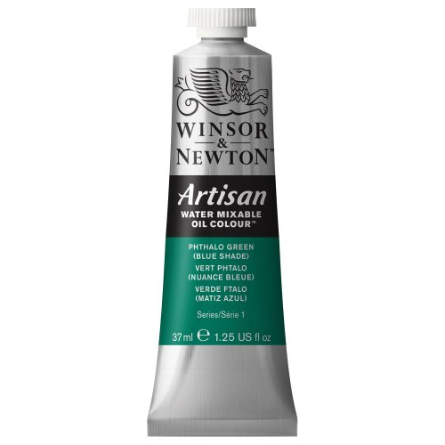 Winsor & Newton Artisan Water Mixable Oil Colour, 37ml Tube, Phthalo Green (Blue Shade)