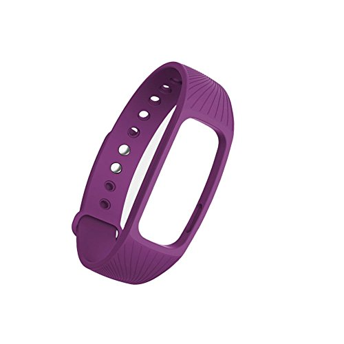 zrshygs Für IPRO ID107 Gurt Smart Watch mit Fitness Tracker Pulsmesser Mit Gurt Lila 1 Stück