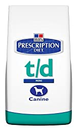 Prescription DietCanine t/d helps to maintain oral health.