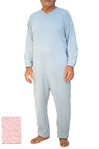 Winterschlafanzug mit Reißverschluss - Rosa/L