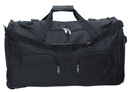 McAllister TravelSystem Sac de sport et de voyage à roulettes Disponible en 4 tailles 60 l, 80 l 100 l et 140 l, Noir (Noir) - 7992-7993-7994-7995