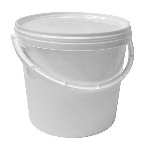 Secchio plástico 5 L container qualità alimentare con coperchio e manico (22052)