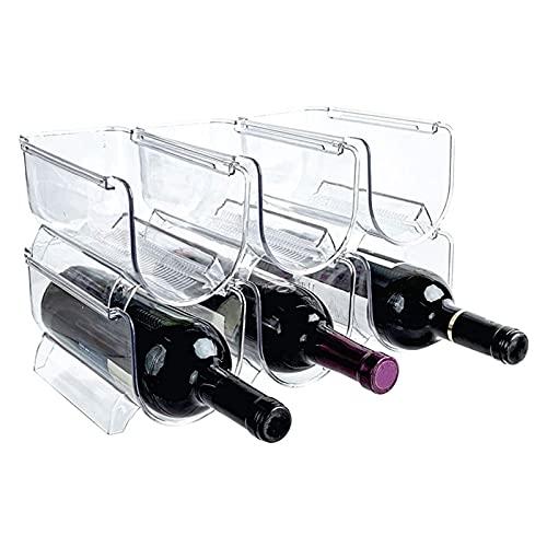 Botellero de Vino Estante de exhibición de vino del estante de vino, titular del organizador de la botella de agua del vino apilable para las encimeras de la cocina, la mesa, la despensa, el refrigera