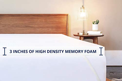 ViscoSoft 3 Inch Memory Foam Mattress Topper Queen | Select High Density Ventilated Mattress Pad