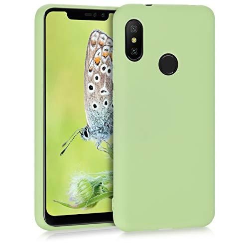 kwmobile Funda Compatible con Xiaomi Redmi 6 Pro/Mi A2 Lite - Carcasa de TPU Silicona - Protector Trasero en Verde Pistacho