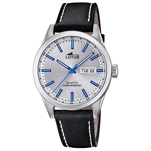 Lotus Herren Analog Quarz Uhr mit Leder Armband 18671/2