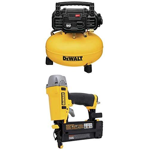 DEWALT DWFP55126 6-Gallon 165 PSI Pancake Compressor with DWFP12231 Pneumatic 18-Gauge 2-Inch Brad Nailer Kit