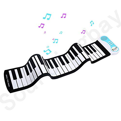 Read About CYCPACK Kids 49-Key Flexible Roll-Up Educational Piano Keyboard - Electronic Digital Musi...