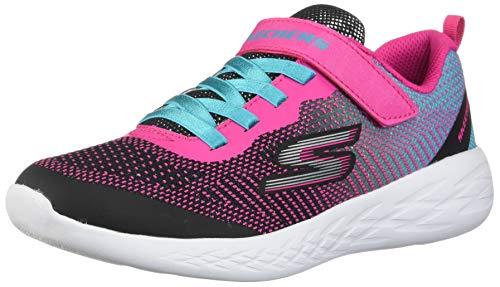 Skechers GO Run 600 Sparkle Runner Coole Mädchen Mesh Sneakers Black, Meshfutter, Herausnehmbare Einlegesohle, 4241152/36