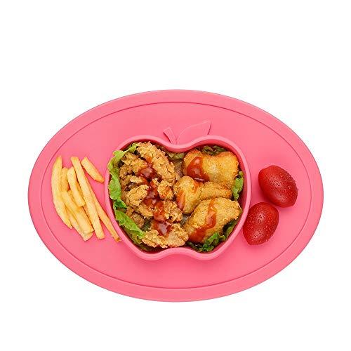 Baby Teller Mini Silikon Tischset Rutschfest Babyteller mit Saugnapf für Baby Kleinkind und Kinder, Abwaschbar Kinder Tischset für Spülmaschine, Mikrowelle, Backofen