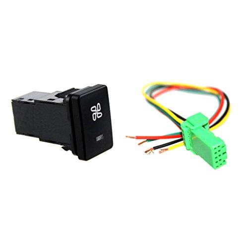 B Blesiya Interruptor de Botón Pulsador de Coche de 12 V con de Ventilador para Camry