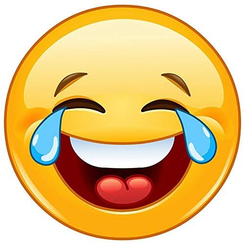 Pegatina-Smiley lagrimas | kfz_308 I redonda Ø 15 cm I | pegatina emoticón risas para coche autocaravana y muchos más | resistente al agua