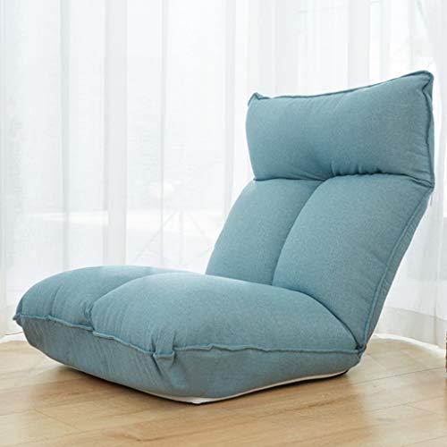 Bulawlly Folding Gaming Chair Faule Sofa Upscale Bean Bag Stuhl, Adult Highback Jumbo Stoff Gaming Stuhl Lounger Lehnstuhl,Schwarz