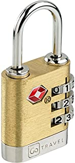 Go Travel Brass Travel Sentry Lock