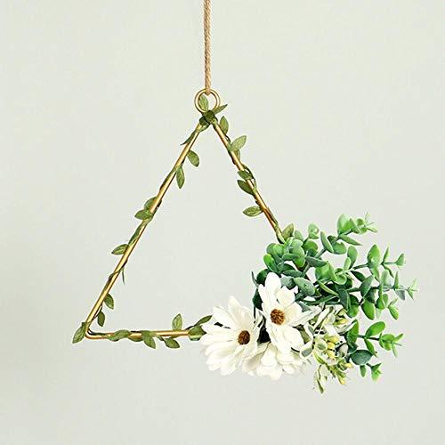 Gouen Home Wedding Kunstbloem Krans Metalen hanger Home Decor Ornamenten Voordeur Muur Opknoping Flower Garland decoratie, A2