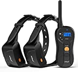 ieGeek Dog Training Collar for 2 Dogs, 1960ft Range Blind Operation Shock Collar with Beep, Vibration, Shock Training Modes, Rechargeable and Waterproof E-Collar for Small, Medium, Large Dogs