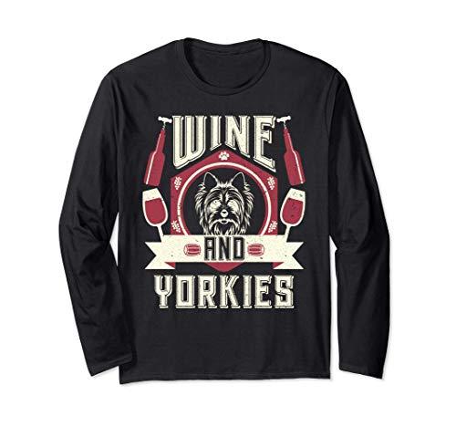 El vino y los Yorkies Los conocedores del vino Los amantes d Manga Larga