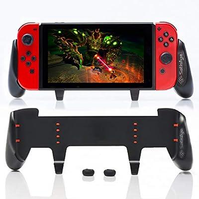 Satisfye - New Grip, Accessories Compatible with Nintendo Switch - Comfortable & Ergonomic Grip, Joy Con & Switch Control. #1 Switch Accessories Designed for Gamers. BONUS: 2 Thumbsticks