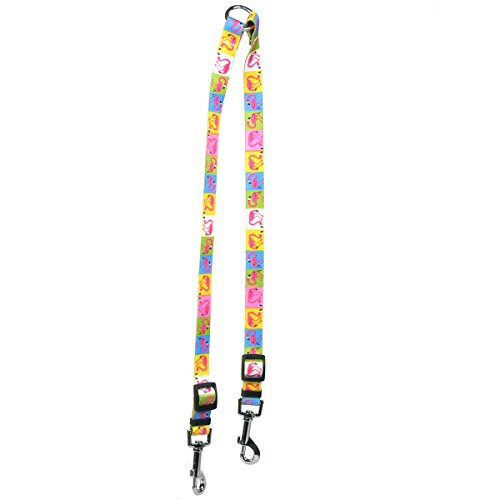 "Yellow Dog Design Pink Flamingo Coupler Dog Leash, Small-3/8 Wide and 9 to 12"" Long"
